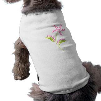 Pink Ribbon Breast Cancer Awareness Survivor Pet Tshirt