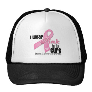 Pink Ribbon Breast Cancer Cure Hats