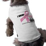 Pink Ribbon Breast Cancer Cure Sleeveless Dog Shirt