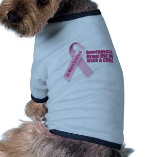 Pink Ribbon Breast Cancer Dog T-shirt