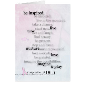 Pink Ribbon Breast Cancer Inspiration card