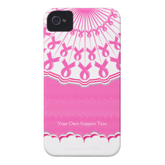 Pink Ribbon Breast Cancer Support Blackberry Bold iPhone 4 Cover