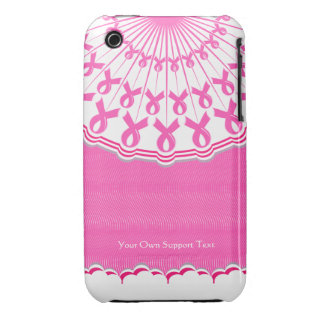 Pink Ribbon Breast Cancer Support iPhone 3 Case