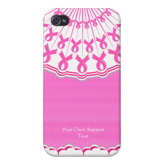 Pink Ribbon Breast Cancer Support iPhone 4 Case