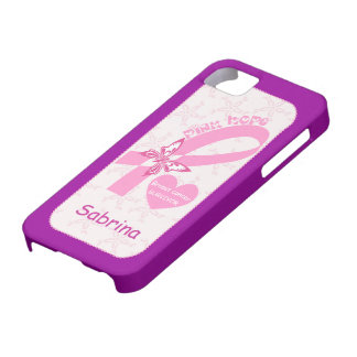 Pink Ribbon Breast cancer survivor custom iPhone 5 Cases