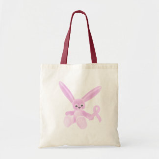 Pink Ribbon Bunny Budget Tote Bag