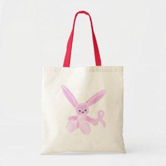 Pink Ribbon Bunny Tote Bag