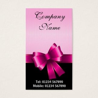 Pink ribbon business card