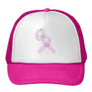 Pink Ribbon Butterfly Cap