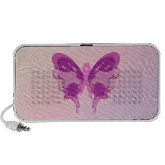 PINK RIBBON BUTTERFLY TRAVEL SPEAKERS
