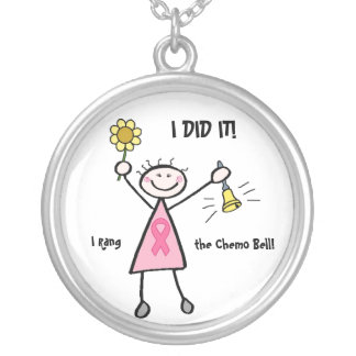 Pink Ribbon Chemo Bell Necklace