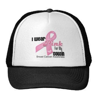 Pink Ribbon Cousin Breast Cancer Mesh Hats