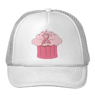 Pink Ribbon Cupcake Breast Cancer Hats