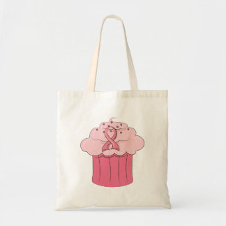 Pink Ribbon Cupcake Breast Cancer Tote Bag