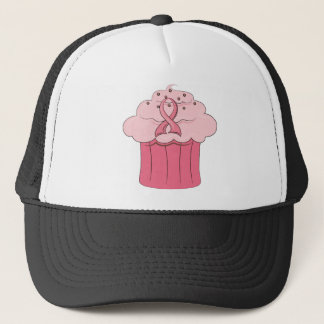Pink Ribbon Cupcake Breast Cancer Trucker Hat