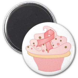 Pink Ribbon Cupcake Magnet
