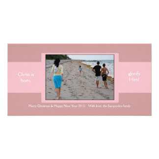 Pink Ribbon Custom Photo Card