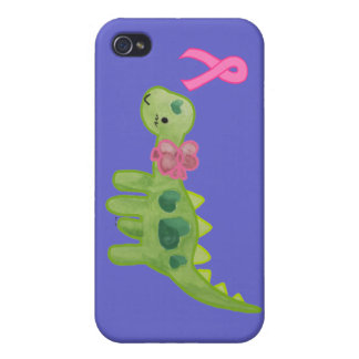 Pink Ribbon Dino Covers For iPhone 4