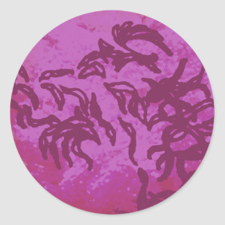 Pink Ribbon Dragon CricketDiane Designer Round Sticker