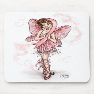 Pink Ribbon Fairy Mouse Pads
