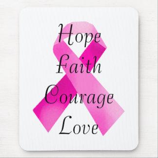 Pink Ribbon Faith Mouse Pad