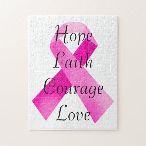 Pink Ribbon Faith Puzzle