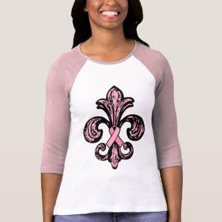 Pink Ribbon Fleur de lis Tshirt