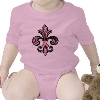 Pink Ribbon Fleur de lis Tee Shirt