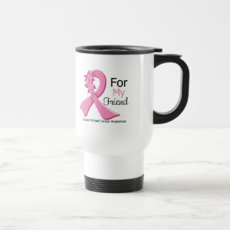 Pink Ribbon For My Friend - Breast Cancer 15 Oz Stainless Steel Travel Mug