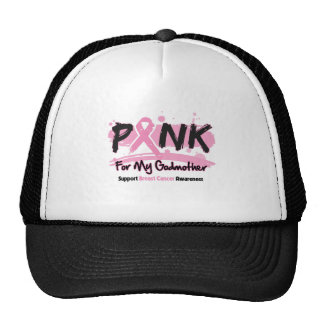 Pink Ribbon For My Godmother Breast Cancer Cap