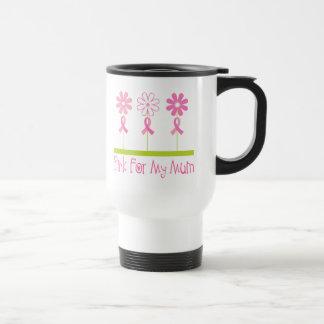 Pink Ribbon For My Mum Stainless Steel Travel Mug