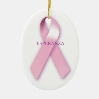 Pink Ribbon Hanging Ornament