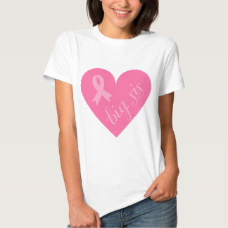 Pink Ribbon Heart Big Sis Shirts