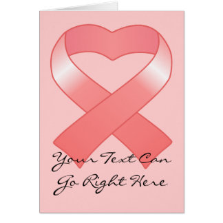 Pink Ribbon Heart Card