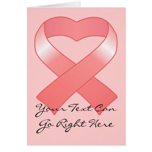 Pink Ribbon Heart Card