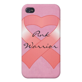 Pink Ribbon Heart iPhone 4 Speck Case iPhone 4 Case