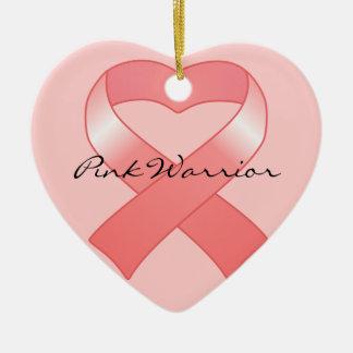 Pink Ribbon Heart Ornament