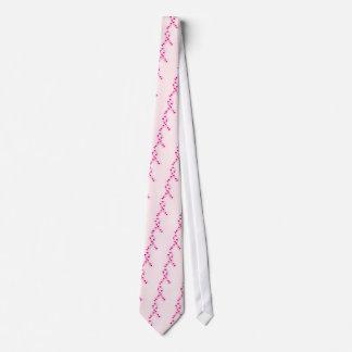 Pink Ribbon Hearts Tie