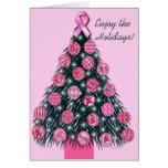 Pink Ribbon Holiday greeting card