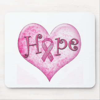 Pink Ribbon Hope Breast cancer awareness Mousepads