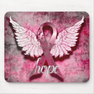Pink Ribbon Hope by Vetro Designs Mouse Mat