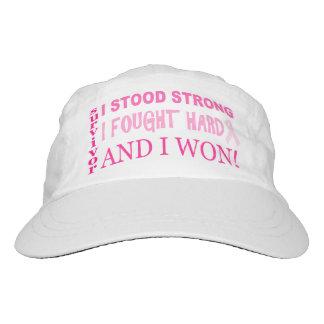 Pink Ribbon I Stood Strong Breast Cancer Survivor Hat
