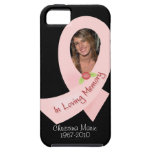 Pink Ribbon In Memory Of Photo Template