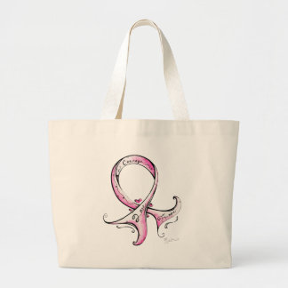 Pink Ribbon Jumbo Tote Bag