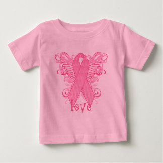 Pink Ribbon Love Baby T-Shirt