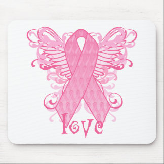 Pink Ribbon Love Mouse Pads