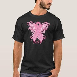 Pink Ribbon Love Wings T-Shirt