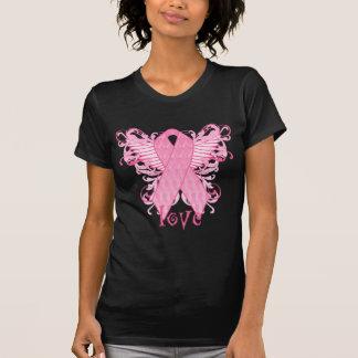 Pink Ribbon Love Wings Tee Shirts