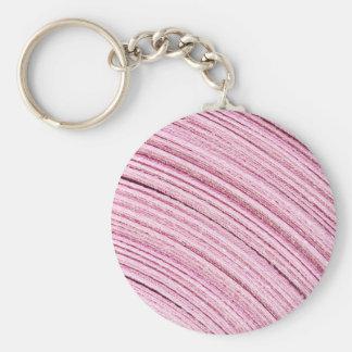 Pink Ribbon Macro Basic Round Button Key Ring