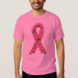 Pink Ribbon Made of Pink Roses Shirt